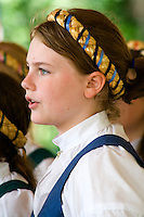 Svenskarnas Dag Girls Choir. Svenskarnas Dag Swedish Heritage Day Minnehaha Park Minneapolis Minnesota USA