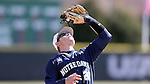 CARY, NC - MARCH 05: Notre Dame's Kyle Fiala catches a popup. The Monmouth University Hawks played the University of Notre Dame Fighting Irish on March 5, 2017, at USA Baseball NTC Field 2 in Cary, NC in a Division I College Baseball game, and part of the Irish Classic tournament. Notre Dame won the game 4-0.