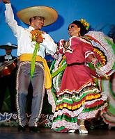 Mexiko, Yucatan Halbinsel: Mexikanisches Tanzpaar | Mexico, Yucatan peninsula: Mexican Dancers