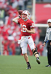 Wisconsin Badgers quarterback Scott Tolzien (16) rolls out of the pocket and throws the ball during an NCAA college football game against the Indiana Hoosiers on November 13, 2010 at Camp Randall Stadium in Madison, Wisconsin. The Badgers won 83-20. (Photo by David Stluka)