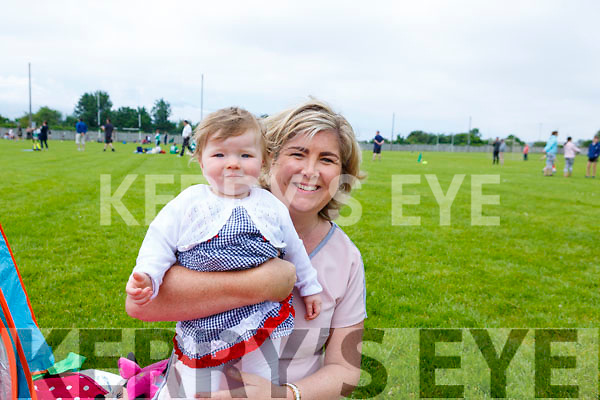 Sophie Buckley with her grandmother Marie Buckley from Fossa enjoying the Community GAA Football games in Na Gaeil on Monday