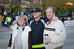 Proud parents pose with their son in this great photo before the Quad Cities Marathon in 2010.