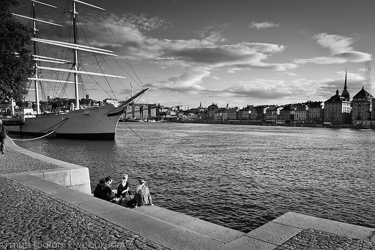 Seascape from Stockholm, Sweden. Stockholm staden vid vattnet.