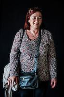 Javier Calvelo/ URUGUAY/ MONTEVIDEO/ FOTOGRAFIA/ Expoprado - Exposicion Rural del Prado de Montevideo/ Proyecto documental sobre la identidad, lo nacional, lo Uruguayo. Se trata de retratos simples mirando a camara y con un fondo neutro. Les pregunto a los fotografiados como quieren ser recordados en el futuro y de que localidad del Uruguay son.<br /> El titulo esta basado en la obra de Raymond Firth, Tipos Humanos. (Raymond William Firth, ( 1901-2002) fue un etn&oacute;logo neozeland&eacute;s profesor de Antropolog&iacute;a en la London School of Economics, es uno de los fundadores de la antropolog&iacute;a econ&oacute;mica brit&aacute;nica). <br /> En la foto:  Tipos Humanos en Expoprado, Elma Caraballo, Empalme Olmos. Foto: Javier Calvelo <br /> 2013-09-09 dia lunes