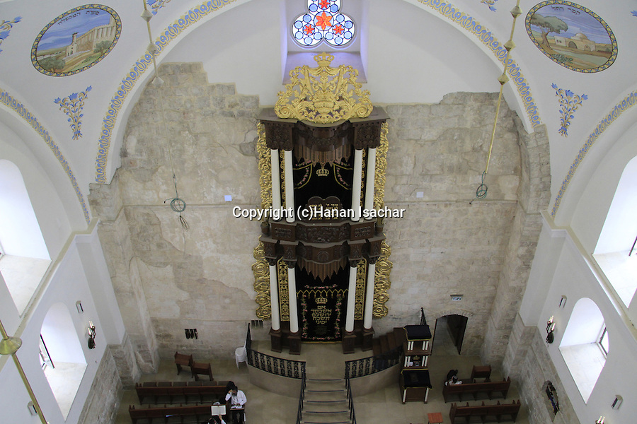 Israel, the restored Hurva synagogue in the Old City of Jerusalem