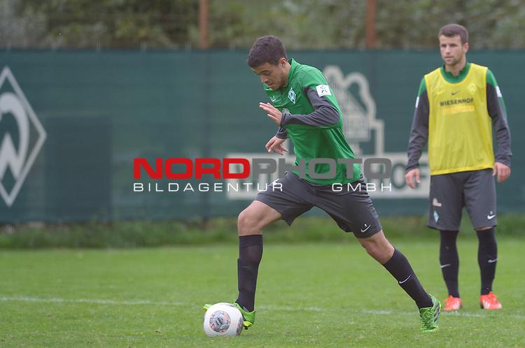 24.09.2013, Trainingsgelaende, Bremen, GER, 1.FBL, Training Werder Bremen, im Bild Franco Di Santo (Bremen #9)<br /> <br /> Foto &copy; nph / Frisch
