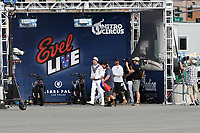 Las Vegas, NV- JULY 8: Travis Pastrana  attemps Evil Knievel's three most iconic stunts in three hours for Evil Live at Caesars Place in Las Vegas, NV on July 8, 2018. <br /> CAP/MPI/DAM<br /> &copy;DAM/MPI/Capital Pictures