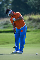 Kodai Ichihara (JPN) sinks his putt on 1 during round 3 of the WGC FedEx St. Jude Invitational, TPC Southwind, Memphis, Tennessee, USA. 7/27/2019.<br /> Picture Ken Murray / Golffile.ie<br /> <br /> All photo usage must carry mandatory copyright credit (© Golffile | Ken Murray)