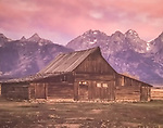 The Moulton Barns are a popular tourist attraction in Jackson Hole, Wyoming.