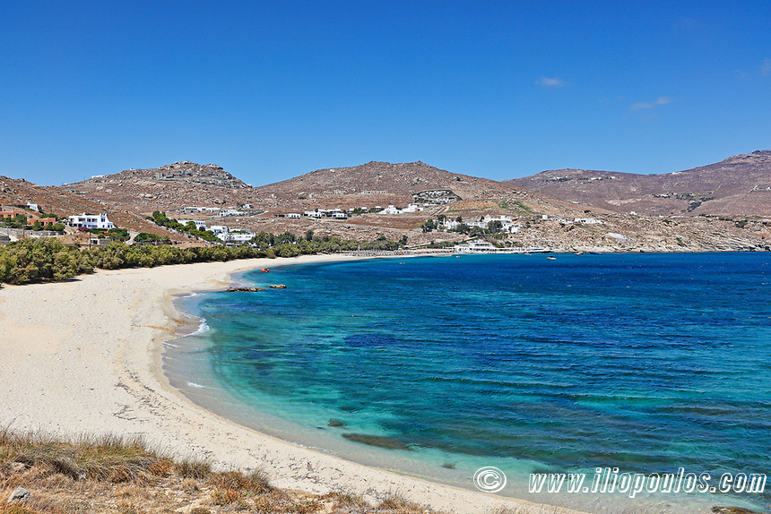 Kalafatis beach in Mykonos, Greece