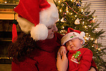 Mom and Maggie Mellott, first Christmas, baby, mother, child, relationship, Christmas tree, Estes Park, Colorado, USA