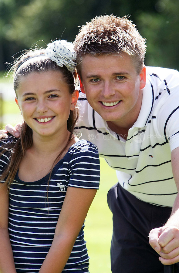 10/08/'10 Brian Ormond and his daughter, Chloe pictured at Palmerstown House Estate Golf Club, Co. Kildare this evening for the launch of  Charity Golf Day for Motor Neurone  Disease.  The Irish Motor Neurone Disease Association was chosen as the recipient of this major fundraiser  to be hosted by TV Presenter Brian Ormond and broadcasting legend  Jimmy Magee; a Charity Golf Day featuring over 40 teams including well  known faces such as Craig Doyle, Shane Byrne and many more..The event takes place on Thursday 19th August at the  exclusive Palmerstown House Estate Golf Club, Johnstown, Co. Kildare  with tee off times at 9:45am and 2:30pm...Picture Colin Keegan, Collins, Dublin.