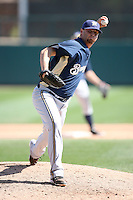March 11,2009: Mitch Stetter (57) of the Milwaukee Brewers at Camelback Ranch in Glendale, AZ.  Photo by: Chris Proctor/Four Seam Images