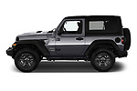 Car Driver side profile view of a 2018 JEEP Wrangler Sport 3 Door SUV Side View