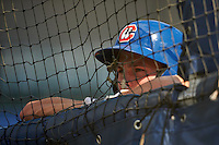 Chattanooga Lookouts outfielder Max Kepler (40) during practice before a game against the Jacksonville Suns on April 30, 2015 at AT&T Field in Chattanooga, Tennessee.  Jacksonville defeated Chattanooga 6-4.  (Mike Janes/Four Seam Images)