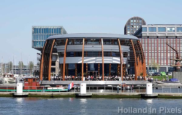 Nederland -  Amsterdam -  april 2019.    Restaurant Loetje aan het IJ.    Foto Berlinda van Dam / Hollandse Hoogte