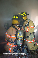 63818-02416 Firefighters at structure fire, Effingham Co., IL