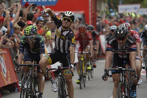 31.08.2015. 2015.  Valencia -to Castellon, Vuelta Espana Cycling tour, stage 10.  Mtn - Qhubeka 2015, Sbaragli Kristian arrives in Castellon