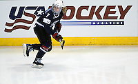 February 4, 2010:  Team USA's Monique Lamoureux (7), in action during the Quest Tour Pre Olympic Exhibition match between Finland and Team USA women's ice hockey at the World Arena, Colorado Springs, Colorado.  Team USA defeats Finland 5-1.