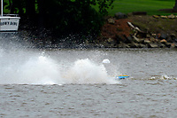 Frame 24: 300-P comes together with 911-Q, turns away and then is ejected from the boat.   (Outboard Hydroplanes)