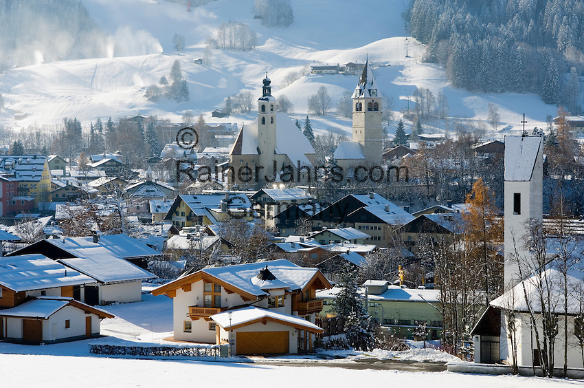 Austria, Tyrol, Kitzbuehel: international ski resort