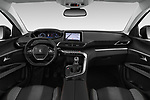 Stock photo of straight dashboard view of a 2018 Peugeot 3008 Active 5 Door SUV
