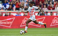 Houston, TX - Sunday April 8, 2018: Crystal Dunn during an International friendly match versus the women's National teams of the United States (USA) and Mexico (MEX) at BBVA Compass Stadium.