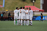 SALEM, VA - DECEMBER 3: The Jumbos huddle upduring theDivision III Men's Soccer Championship held at Kerr Stadium on December 3, 2016 in Salem, Virginia. Tufts defeated Calvin 1-0 for the national title. (Photo by Kelsey Grant/NCAA Photos)