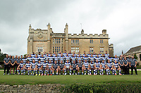 Bath Rugby players, coaches and support staff pose for a portrait at a Bath Rugby photocall. Bath Rugby Media Day on August 28, 2014 at Farleigh House in Bath, England. Photo by: Patrick Khachfe / Onside Images