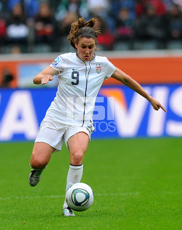 Heather O Reilly of team USA during the FIFA Women's World Cup at the FIFA Stadium in Moenchengladbach, Germany on July 13th, 2011.