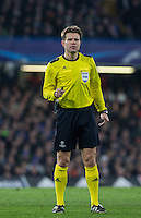 Referee Felix Brych (GER) during the UEFA Champions League Round of 16 2nd leg match between Chelsea and PSG at Stamford Bridge, London, England on 9 March 2016. Photo by Andy Rowland.