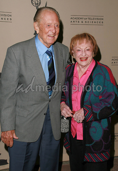 """12 October 2006 - North Hollywood, California - Art Linkletter and wife Lois. The Academy Of Television Arts and Sciences celebrates """"60 Years: A Retrospective Of Television and the Television Academy held at the Academy's Leonard H. Goldenson Theatre. Photo Credit: Charles Harris/AdMedia"""
