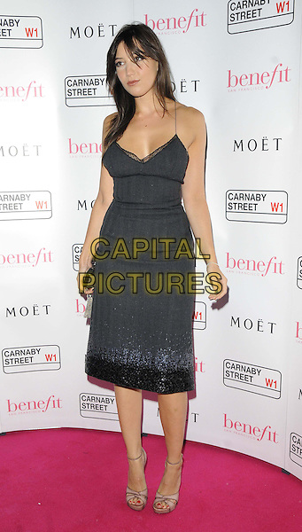 Daisy Lowe<br /> The Benefit Cosmetics global flagship store launch party, Benefit, Carnaby St., London, England.<br /> September 11th, 2013<br /> full length dress black sequins sequined trim<br /> CAP/CAN<br /> &copy;Can Nguyen/Capital Pictures