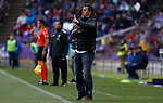 Real Valladolid's coach Sergio Gonzalez during La Liga match. March 31, 2019. (ALTERPHOTOS/Manu R.B.)