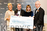 Pictured at the presentation of €5,000 to Pieta House from the Dorothy Moriarty Hengeller fund were l-r: Mary Stapleton Foley Kieran O'Brien Joan Freeman Mark Sullivan, pictured at the Pieta House Masquerade Ball on Friday night last held in the Rose Hotel, Tralee.