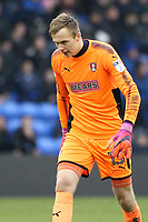 Rotherham United's Marek Rodak during the Sky Bet League 1 match between Oldham Athletic and Rotherham United at Boundary Park, Oldham, England on 13 January 2018. Photo by Juel Miah / PRiME Media Images.