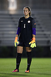 27 October 2016: Clemson's Kailen Sheridan (CAN). The Duke University Blue Devils hosted the Clemson University Tigers at Koskinen Stadium in Durham, North Carolina in a 2016 NCAA Division I Women's Soccer match. Clemson won the game 1-0.