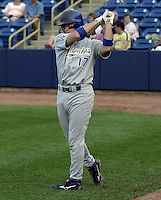May 12, 2004:  Andy LaRoche of the Columbus Catfish, South Atlantic League (low-A) affiliate of the Los Angeles Dodgers, during a game at Classic Park in Eastlake, OH.  Photo by:  Mike Janes/Four Seam Images