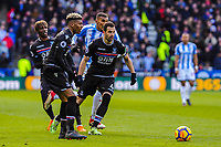 Crystal Palace's defender Patrick Van Aanholt (3) lays off the ball during the EPL - Premier League match between Huddersfield Town and Crystal Palace at the John Smith's Stadium, Huddersfield, England on 17 March 2018. Photo by Stephen Buckley / PRiME Media Images.