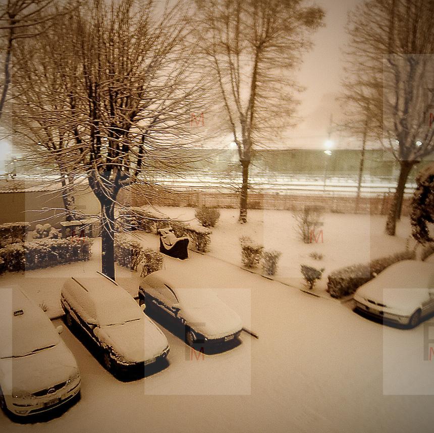 Snow in Milan