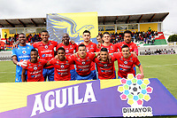 IPIALES - COLOMBIA, 24-08-2019: Jugadores del Pasto posan para una foto previo al partido por la fecha 8 de la Liga Águila II 2019 entre Deportivo Pasto y Unión Magdalena jugado en el estadio Estadio Municipal de Ipiales. / Players of Pasto pose to a photo prior match for the date 8 as part of Aguila League II 2019 between Deportivo Pasto and Union Magdalena played at Municipal stadium of Ipiales. Photo: VizzorImage / Leonardo Castro / Cont