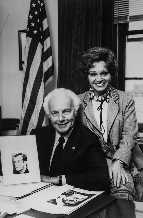 Rep. Tom Lantos, D-Calif., with his wife Annette Lantos. (Photo by CQ Roll Call via Getty Images)