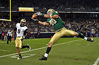 Nov. 20, 2010; Tyler Eifert catches a touchdown pass in the second quarter vs. Army at Yankee Stadium...Photo by Matt Cashore/University of Notre Dame