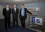 Neil Doncaster, Stewart Regan and David Longmuir together on floor 6 of Hampden where they all operate out of different offices which will change under league reconstruction