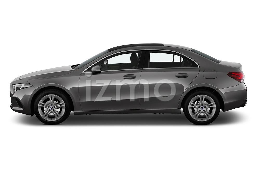 Car driver side profile view of a 2019 Mercedes Benz A Class A 200 4 Door Sedan