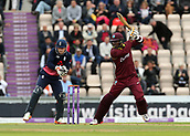 29th September 2017, Ageas Bowl, Southampton, England; One Day International Series, England versus West Indies; West Indies Marlon Samuels in batting action