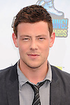 SANTA MONICA, CA - AUGUST 19: Cory Monteith  arrives at the 2012 Do Something Awards at Barker Hangar on August 19, 2012 in Santa Monica, California.