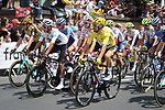 The start of Stage 11 of the 2019 Tour de France running 167km from Albi to Toulouse, France. 17th July 2019.<br /> Picture: ASO/Olivier Chabe | Cyclefile<br /> All photos usage must carry mandatory copyright credit (© Cyclefile | ASO/Olivier Chabe)