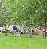Senior Citizens, in a summer garden, New Jersey
