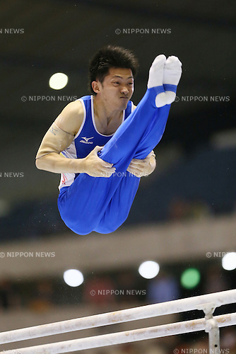 Kazuhito Tanaka, <br /> MAY 17, 2015 - Artistic Gymnastics : <br /> The 54th NHK Cup <br /> Men's Individual All-Around <br /> Parallel bars <br /> at Yoyogi 1st Gymnasium, Tokyo, Japan. <br /> (Photo by YUTAKA/AFLO SPORT)